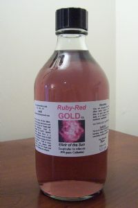 Ruby~Red GOLD 25ppm New Cutting Edge HighTech Micro Colloidal gold, ruby rose pink color 50ml &100ml